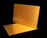 220 - Quarter Sheet Cake Board, Gold Foil Covered Double Wall Corrugated