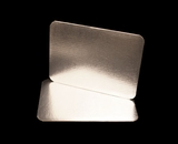 2754 - Quarter Sheet Cake Board, Silver Foil Single Wall  with Razor Cut Edges