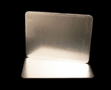 2756 - Half Sheet Cake Board, Silver Foil Single Wall  with Razor Cut Edges