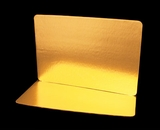 2757 - Full Sheet Cake Board, Gold Foil Single Wall  with Razor Cut Edges