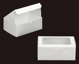 "2264 - 10"" x 7"" x 4"" White/White with Window, Lock & Tab Box With Lid. A22"