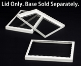 "3296 - 14"" x 10"" x 1"" White/White Simplex Lid With Window"