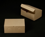 "2374 - 10"" x 7"" x 4"" Brown/Brown without Window, Lock & Tab Box With Lid. A23"