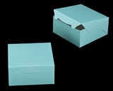 "3241 - 8"" x 8"" x 4"" Diamond Blue/White without Window, Lock & Tab Box with Lid"