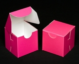 "2288 - 2 1/2"" x 2 1/2"" x 2 1/2"" Pink/White without Window, Lock & Tab Box With Lid"
