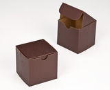 "2882 - 4"" x 4"" x 4"" Chocolate/Brown without Window, Lock & Tab Box With Lid. B09"