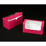 "2096 - 8"" x 4"" x 4"" Pink/White with Window One Piece Lock & Tab Box With Lid"