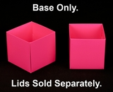 "3104 - 4"" x 4"" x 4"" Pink/White Simplex Box Base Only"