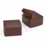 "3043 - 7"" x 7"" x 4"" Chocolate/Brown without Window, Lock & Tab Box With Lid"