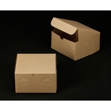 "2368 - 7"" x 7"" x 4"" Brown/Brown without Window, Lock & Tab Box With Lid"