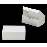 "3377 - 10"" x 7"" x 4"" White/White without Window, Lock & Tab Box With Lid"