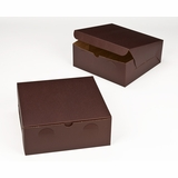 "2885 - 10"" x 10"" x 4"" Chocolate/Brown without Window, Lock & Tab Box With Lid"