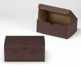 "3381 - 10"" x 7"" x 4"" Chocolate Brown/Brown without Window, Lock & Tab Box With Lid. A24"