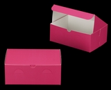 "3378 - 10"" x 7"" x 4"" Pink/White without Window, Lock & Tab Box With Lid. A25"