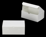 "3377 - 10"" x 7"" x 4"" White/White without Window, Lock & Tab Box With Lid. A24"