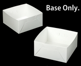 "1718 - 12"" x 12"" x 6"" White/White  Lock & Tab Box Base Only, 50 COUNT. A16"