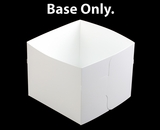 "1250 - 12"" x 12"" x 10"" White/White  Lock & Tab Box Base Only, 50 COUNT"