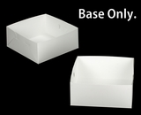 "1719 - 14"" x 14"" x 6"" White/White Lock & Tab Box Base Only 50 COUNT. A20"