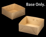 "2396 - 14"" x 14"" x 6"" Brown/Brown  Lock & Tab Box Base Only 50 COUNT. A18"