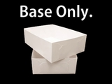 "743 - 19"" x 14"" x 6""  White/White Lock & Tab Box Base"