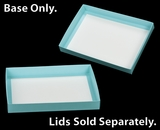 "3212 - 14"" x 10"" x 1 3/4"" Diamond Blue/White Simplex Box Base Only Without Lid. A21"