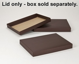 "2903 - 14"" x 10"" x 1 1/2"" Chocolate/Brown Simplex Lid Without Window. A20"