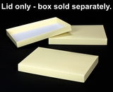 "2922 - 14"" x 10"" x 1 1/2"" Buttercream/White Simplex Lid Without Window. A20"