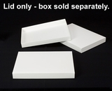 "2902 - 14"" x 10"" x 1 1/2"" White/White Simplex Lid Without Window. A20"
