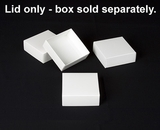 "2889 - 4"" x 4"" x 1 1/2"" White/White Simplex Lid Without Window. B04"