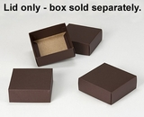 "2892 - 4"" x 4"" x 1 1/2"" Chocolate/Brown Simplex Lid Without Window. B04"