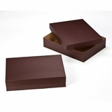 "3045x3048 - 19"" x 14"" x 4""  Chocolate Brown/Brown Lock & Tab Box Set, without Window, 50 COUNT"