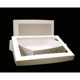 "294x293 - 19"" x 14"" x 4"" White/White Lock & Tab Box Set, with Window"