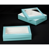 "3044x3046 - 19"" x 14"" x 4""  Diamond Blue/White Lock & Tab Box Set, with Window"