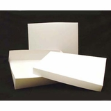 "294x397 - 19"" x 14"" x 4"" White/White Lock & Tab Box Set, without Window, 50 COUNT"