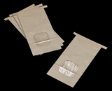 3265 - 1 LB Kraft/Poly Tin Tie Window Bag 4 3/4 x 2 1/2 x 9 1/2  - 100ct
