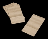 3280 - 6 LB  Uncoated Kraft SOS Bag 5 15/16 x 3 1/2 x 11 1/16 - 100ct
