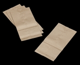 3282 - 8 LB  Uncoated Kraft SOS Bag6 x 3 15/16 x 12 3/16 - 100ct