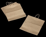 3252 - Grande Kraft Shopping Bag with Handle 16 x 11 x 18 1/4 - 100ct. A27