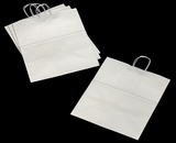 3253 - Grande White Shopping Bag with Handle 16 x 11 x 18 1/4 - 100ct. A30