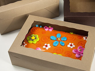 Brown Cake Boxes