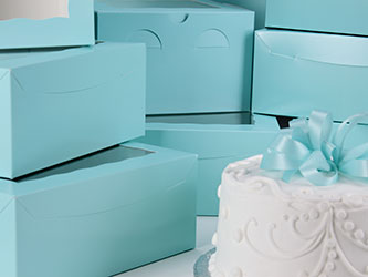 Diamond Blue Cake Boxes