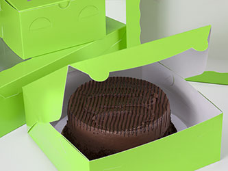 Green Cake Boxes