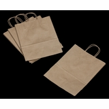 3246 - Debbie Kraft Shopping Bag with Handle 10 X 5 X 13 - 100ct
