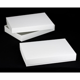 "296x396 - 26"" x 18"" x 4"" White/White Lock & Tab Box Set, without Window 50 COUNT"