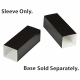 "3160 - 6"" x 2 1/4"" x 2"" Black/White Macaron Box Sleeve Only, without Window"
