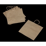 3248 - JR Mart Kraft Shopping Bag with Handle 13 x 7 x 13 - 100ct