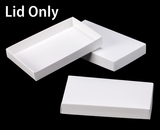 "3412 - 7"" x 4 1/2"" x 1"" White/White Simplex Lid, without Window. B05"