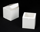 "2388 - 6"" x 6"" x 6"" White/White with Window, Lock & Tab Box With Lid"