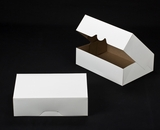 "1247 - 14"" x 10"" x 4"" White/Brown without Window, Timesaver Box With Lid. A23xA23"