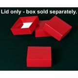 "2906 - 4"" x 4"" x 1 1/2"" Red/White Simplex Lid Without Window"